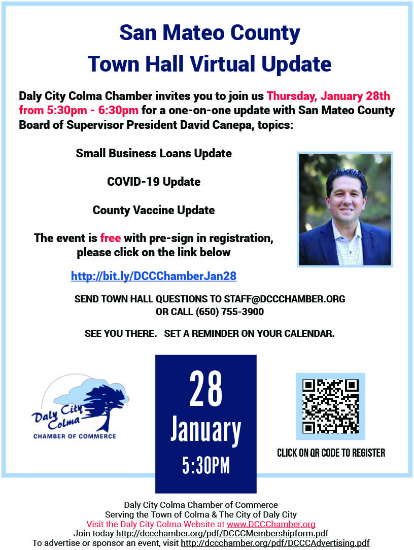Join with aother Chamber Members, Meet Potential Customers, Kindle Old and New Relestionships. Attend Upcoming 2020 Events sponsored by the Daly City/Colma Chamber of Commerce. Be Seen, Be Heard.